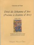 Christine de Pizan, Ditié de Jehanne d'Arc, trad. Bertrand Rouziès-Léonardi